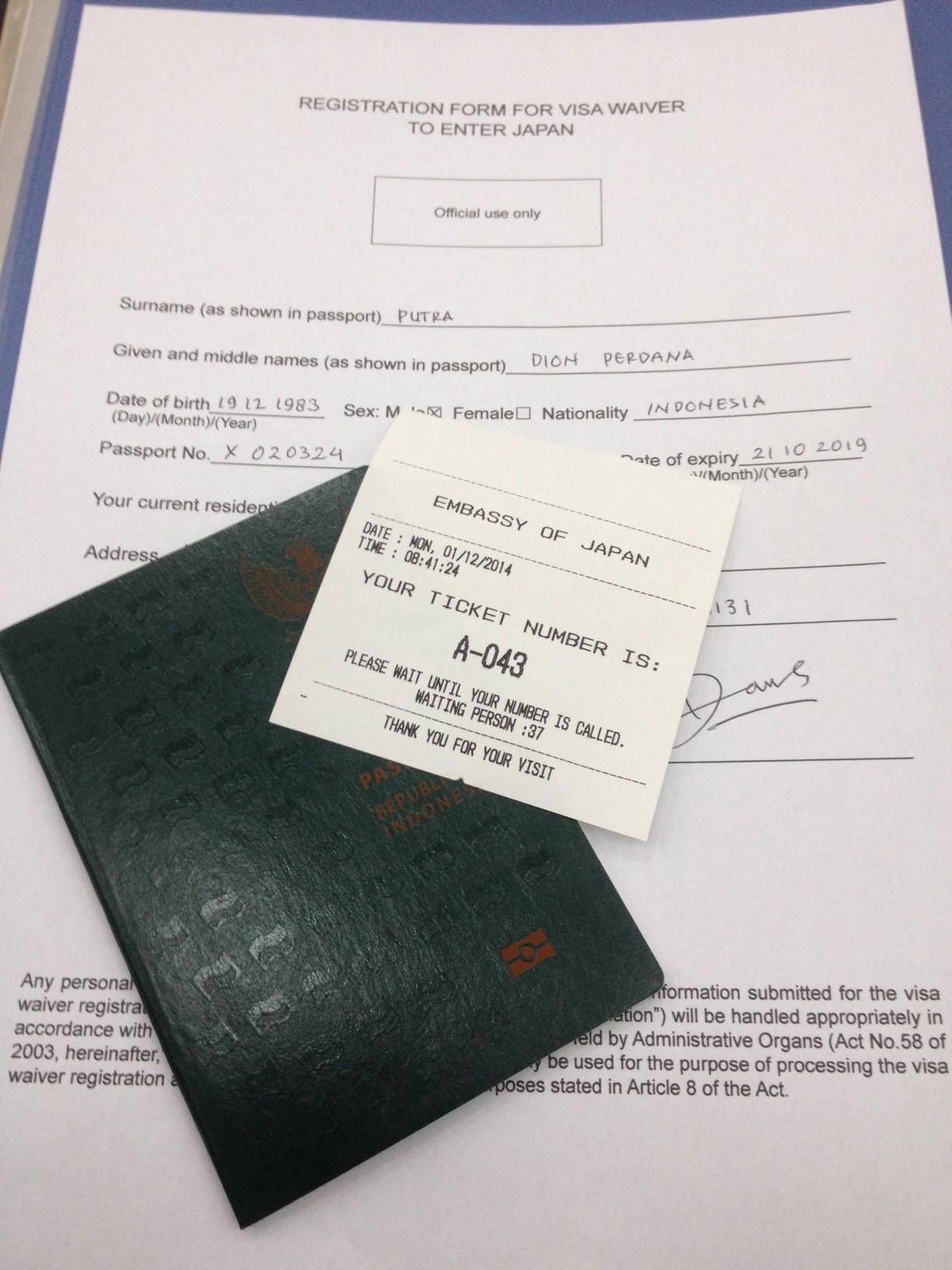 epaspor dan form registrasi bebas visa