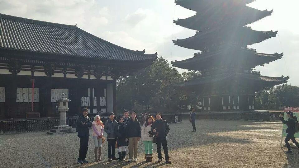 foto peserta tour ke jepang nara winter 2015