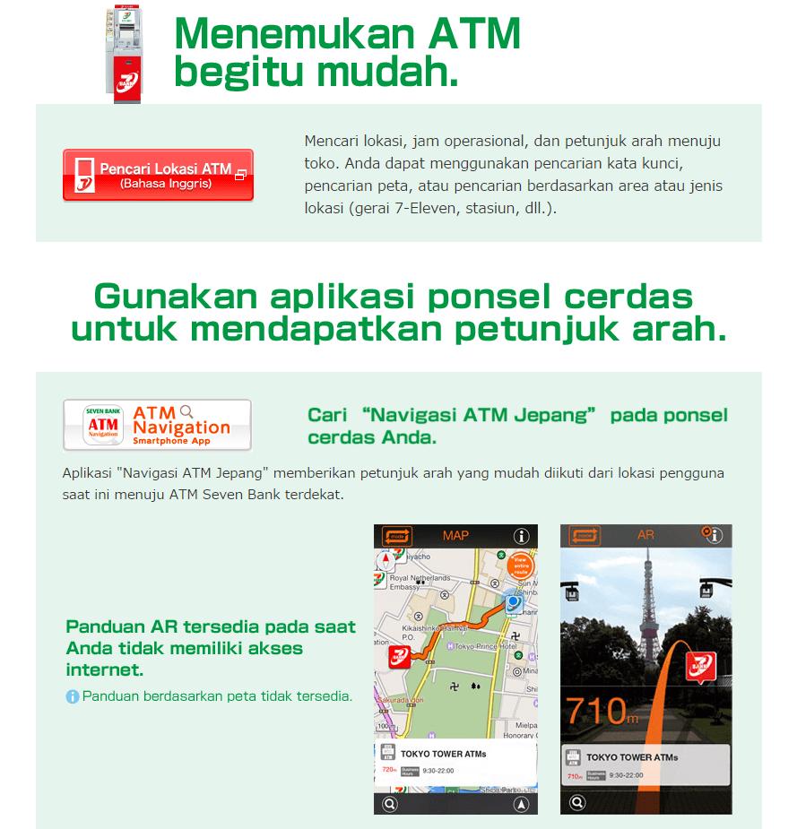 cara menemukan atm yen di jepang dengan ponsel