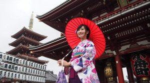 Sewa Kimono di Asakusa Tokyo Jepang