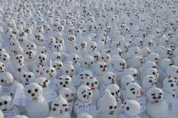Sapparo Snow Festival Yuki Matsuri Boneka Salju