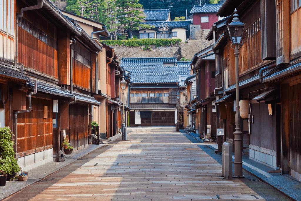 Distrik Higashi Chaya di Kanazawa Jepang