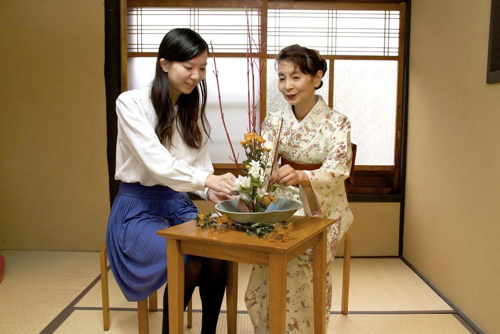 Ikebana di Kyoto Jepang