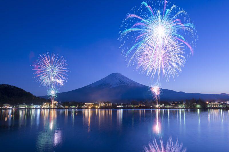 Kembang Api Festival di Kawaguchiko Lake Jepang