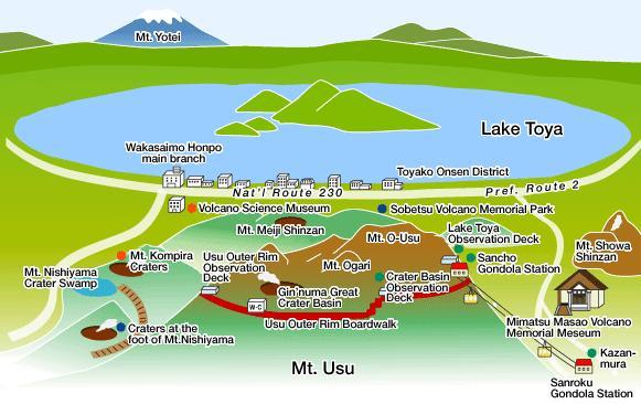 Melihat Danau Toya dari Mount Usu