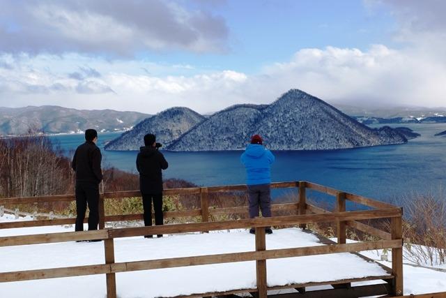 Melihat Lake Toya yang sangat Indah dari atas