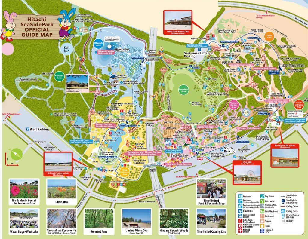 Peta Hitachi Seaside Park Jepang