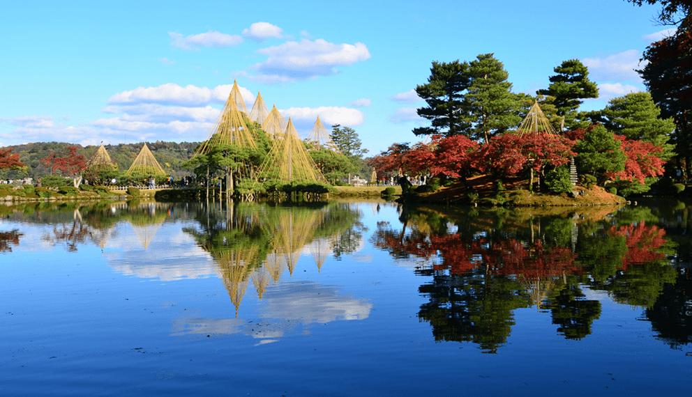 Taman Kenrokuen di Kanazawa Jepang