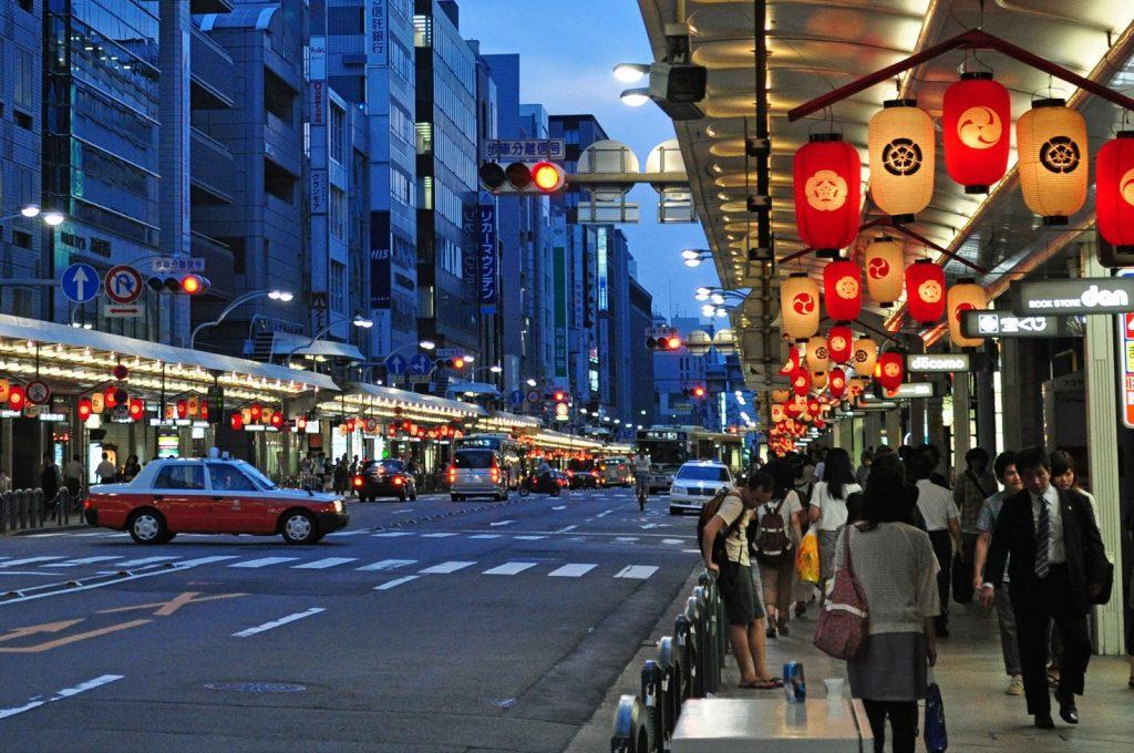 jalan shijo kyoto di jepang