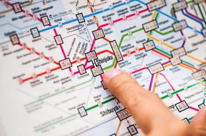 Peta Subway di Tokyo
